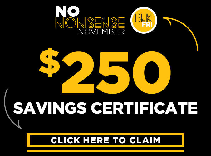 $250 Savings Certificate!