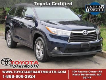 2015 Toyota Highlander XLE North Dartmouth MA