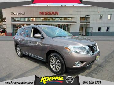 2014 Nissan Pathfinder SL LEATHER THIRD ROW NAVIGATION CAMERA POWER TAILG Jackson Heights New York