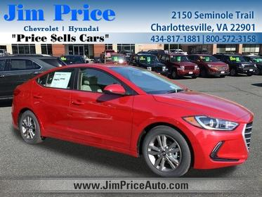 2018 Hyundai Elantra VALUE EDITION 4dr Car Charlottesville VA