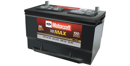MOTORCRAFT® TESTED TOUGH® MAX BATTERIES STARTING AT $129.95 MSRP*
