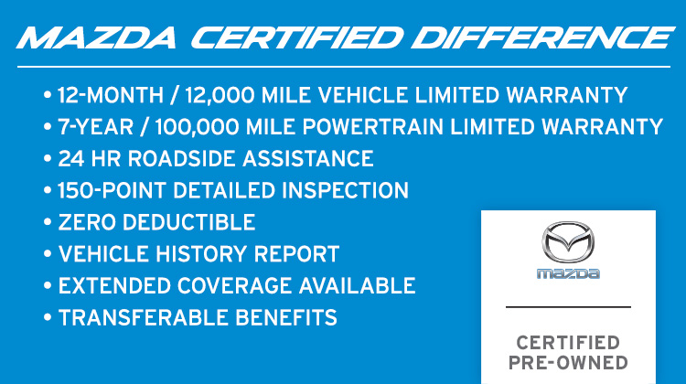 Mazda Certified Pre Owned >> The Mazda Certified Pre Owned Difference