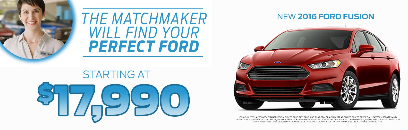 New 2016 Ford  Fusion SE w/ SE Tech pkg.
