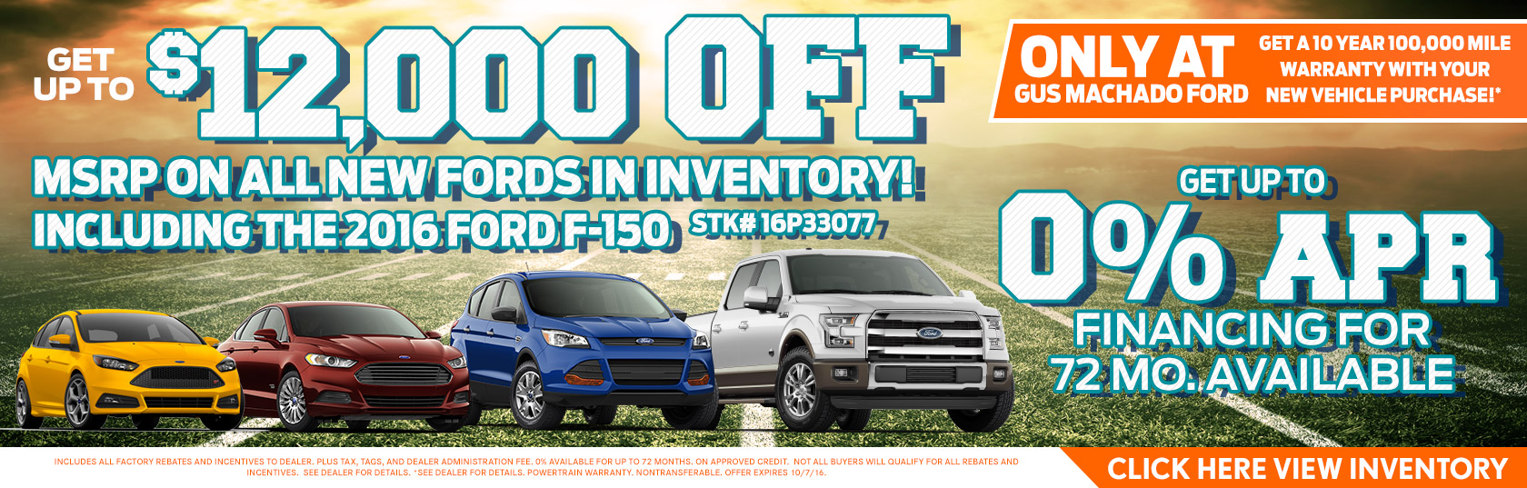 12 000 Off New Fords
