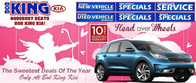 Bob King Kia >> Kia Head Over Wheels February Specials