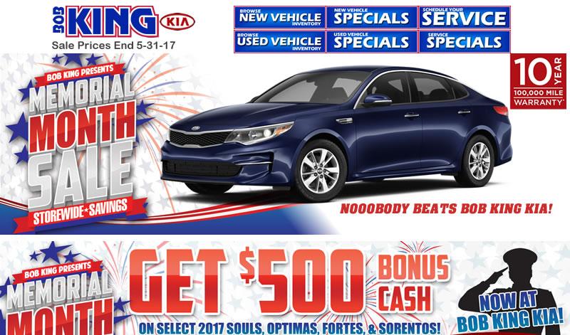 Memorial Day Car Sales 2017 >> Kia Memorial Day Sales Event