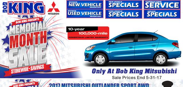 Memorial Day Car Sales 2017 >> Mitsubishi Memorial Day Sales Event