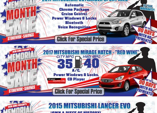 Mitsubishi Memorial Day Sales Event