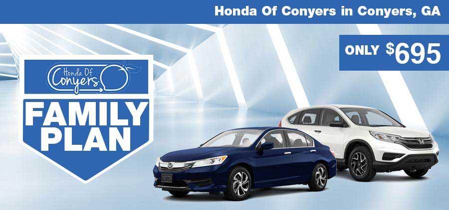 Honda Of Conyers >> Family Plan Honda Conyers