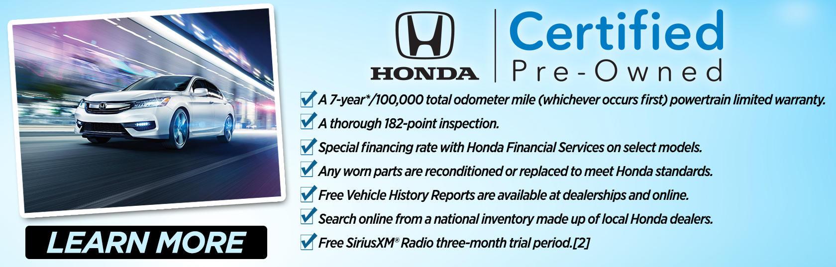 Why Buy Deacon Jones Honda Certified Pre Owned Vehicle?