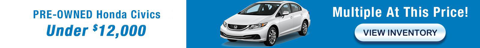 2013 Honda Civics 12900