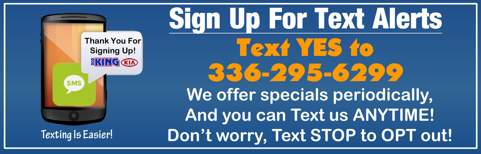 Text opt In